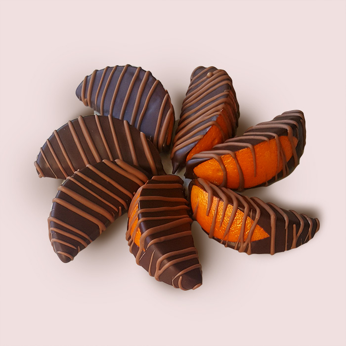 Dark Chocolate Orange Slices-7 peaces +£7.00