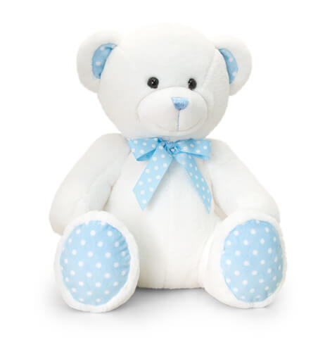 Spotty Teddy Bear - Blue +£11.99