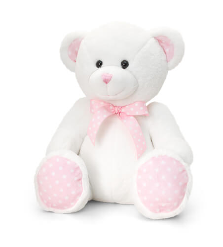 Spotty Teddy Bear - Pink +£7.95