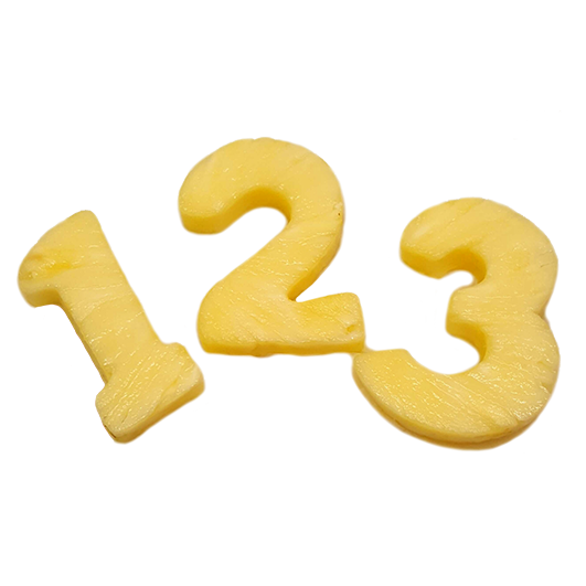 Fruity numbers-1 piece  +£2.50