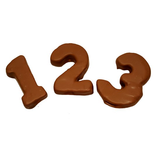 Fruity chocolate numbers-1 pcs +£3.00