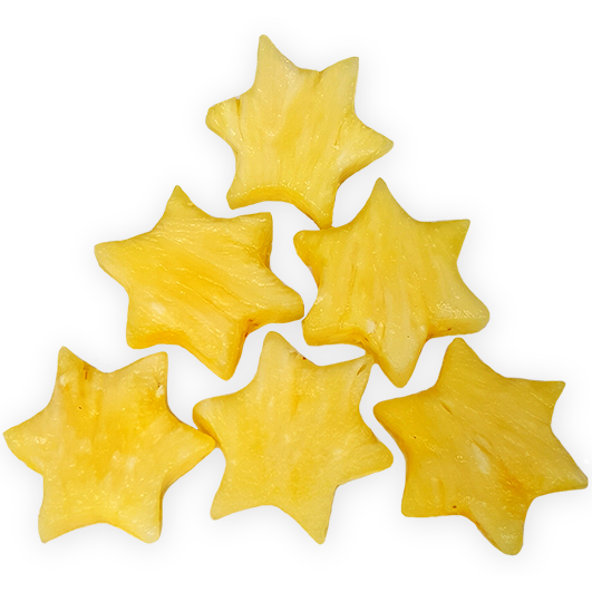 Pineapple Stars- 8 pieces +£7.00