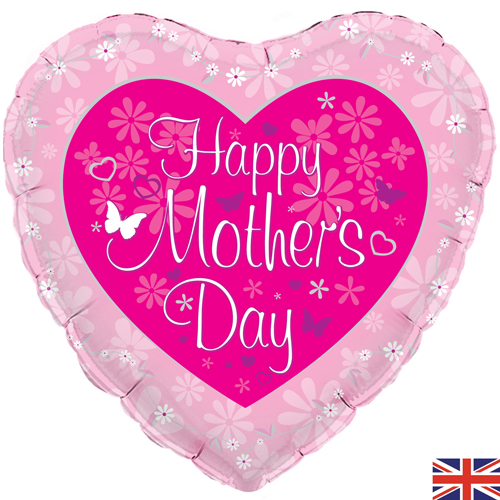 Happy Mother's Day Balloon-heart-shaped +£5.95