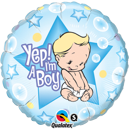 'Yep! I'm A Boy' Balloon +£5.95