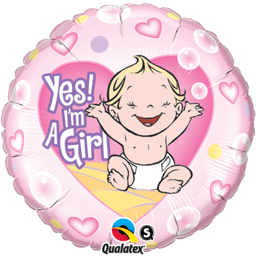 'Yes! I'm A Girl' Balloon +£5.95