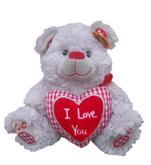 Valentines Bear Holding a Heart +£14.99
