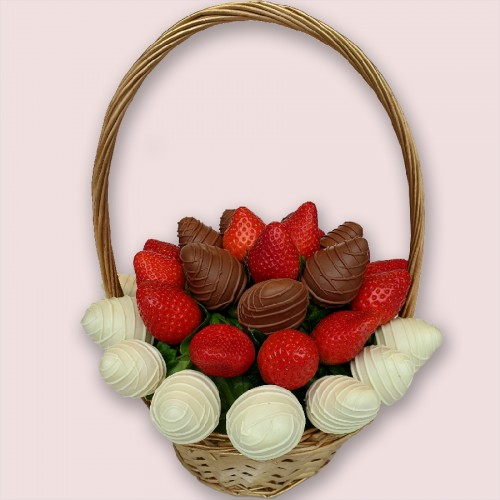 Chocolate Strawberries Edible Bouquet