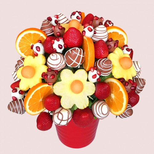 Pomegranate fruit bouquet fresh edible bouquets by Fruit bouquet