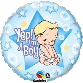'Yep! I'm A Boy' Balloon