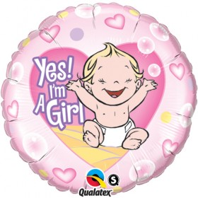 'Yes! I'm A Girl' Balloon
