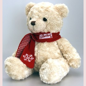 Christmas Bear with Scarf-25cm
