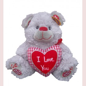Valentines Bear Holding a Heart-22cm