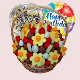 Buy Large Delicious Fruit Bouquet and Get FREE Balloon for All Occasions