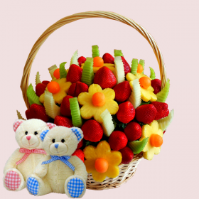 Buy Large Fresh Celebration Bouquet and Get FREE Bear worth £11.99