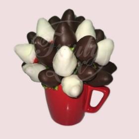 Strawberry Dark Chocolate Mug